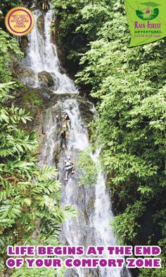 LIFE BEGINS AT THE END OF YOUR COMFORT ZONE! Rainforest Adventures Costa Rica: Real Nature, Real Fun!
