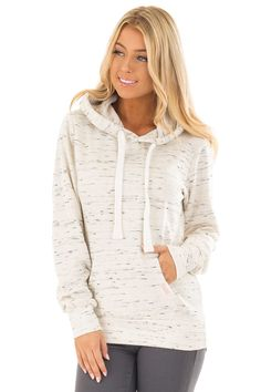 Oatmeal Two Tone Pull Over Comfy Hoodie