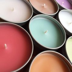 8 oz. Candle Tin Choose Your Scent Strongly by spicypinecone