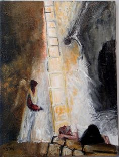 Image result for jacob's ladder painting