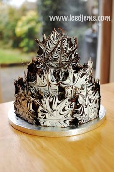 Really Easy Chocolate Marble Cake by icedJems.com