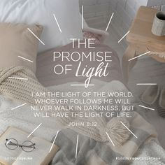 "Day 3- The Promise of Light // ""I am the Light of the world. Whoever follows Me will never walk in darkness, but will have the light of life."" {John 8:12} // 25 Days of Christmas Promises #incourageChristmas"