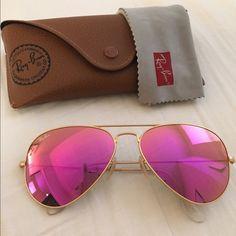 Raybans Aviator Magenta Flash Perfect condition magenta flash aviator  raybans Ray-Ban Accessories Sunglasses Cheap 29d3b4755b
