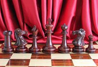 """Legendary Templar Knight Staunton Luxury Chess set with 102mm King in Red Sandal Wood with a 51cm (20"""") Rosewood Chess Board & Leather Case"""