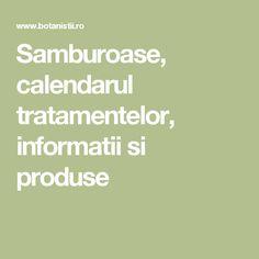 Samburoase, calendarul tratamentelor, informatii si produse