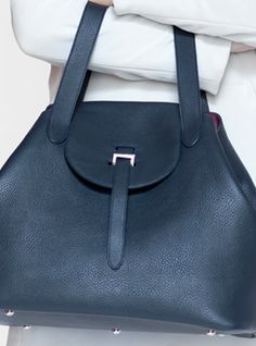 Young British Designers: New Season Thela Bag in Soft Black Leather-Back In Stock by Meli Melo - Olivia Palermo is seldom seen without hers and we can see why. Carry your lovely life with you in this ever so perfect everyday bag. New season and new lovely soft black colour.