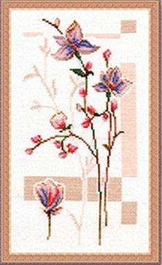 Схема вышивки крестом «Розовые бутоны» | Вышивка крестиком