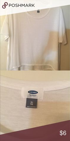 White soft Cotten casual tee by Old Navy White tee, soft Cotten by Old Navy Old Navy Tops Tees - Short Sleeve