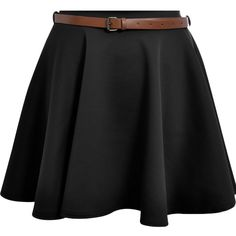 New Womens Ladies Belted Skater Flared Jersey Plain Mini Party Dress Skirt 8-14 at Amazon Women's Clothing store:
