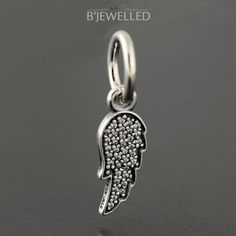 Authentic Genuine Pandora Silver Symbol of Guidance Wing Charm - 791352CZ