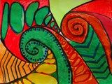 Artsonia Art Exhibit :: New Zealand Koru Designs, Great project for complimentary colors