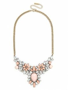 Blush Pink Gold and White Chunky Statement by TheGoldenGardenia ...