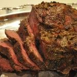Sirloin Tip Roast- Delicious. I used regular mustard and instead of turning the oven off, I set the temperature to 200 for 10 mins per lb to make sure I wouldn't lose all the heat.