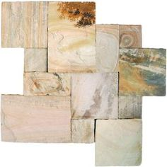 MS International Fossil Rustic Sandstone Paver Kits (4-Pack) at Home Depot. This would be so cool for a walkway.