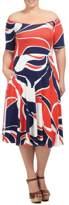 Love this print!  Plus Size Dress