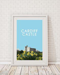 #Cardiff #Castle #Travel #Print #Poster #Art