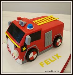 3rd Birthday, Birthday Ideas, Birthday Parties, Fireman Sam Cake, Themed Cupcakes, Fondant Cakes, Fire Trucks, Cake Pops, Cake Ideas