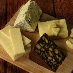 Irish Cheeses:  Cashel Blue: . Dubliner :   Cahill Farm Cheddar with Porter Ale:   Shamrock Cheddar