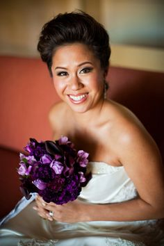 purple wedding flowers | Colorful Bridal Bouquets - Elizabeth Anne Designs: The Wedding Blog