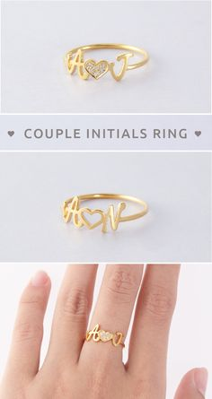 28 ideas birthday gifts for girlfriend je. 28 ideas birthday gifts for girlfriend jewelry friends for Bracelet Initial, Initial Jewelry, Initial Rings, Custom Jewelry, Gold Jewelry, Jewellery Box, Jewellery Shops, Bulgari Jewelry, Jewelry Stand