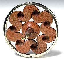 Tsunami Cherry drop spindle from Golding