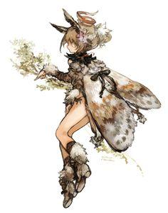 陰をゆく. Moth creature character