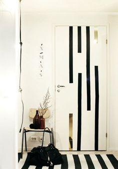 New room door decorations washi tape 45 ideas Washi Tape Door, Door Design, House Design, Diy Home Decor, Room Decor, Balkon Design, Interiors Magazine, Bedroom Doors, Diy Furniture Projects