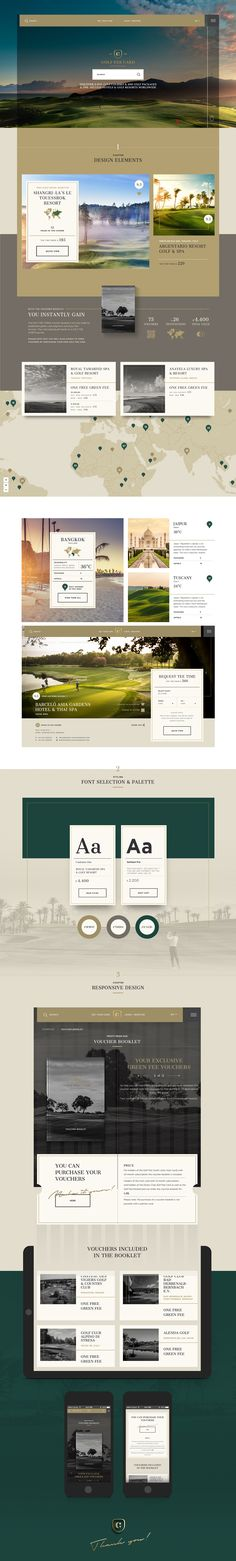 Golf Fee Card - Website on Behance