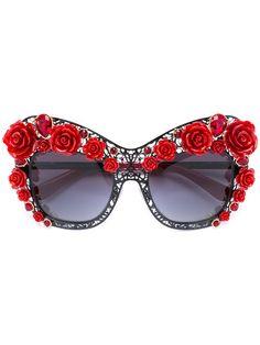 DOLCE & GABBANA Lace Bouquet Sunglasses. #dolcegabbana #sunglasses