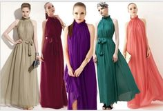 Retro Women's Sleeveless Chiffon Bohenmia Sexy Party Long Dress Elegant Vintage #100New #Dress #Cocktail