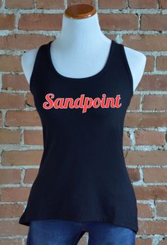 Sandpoint Crossover Back Tank, Black