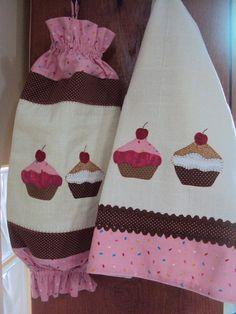 Puxa Saco e Pano de Prato Cupcake