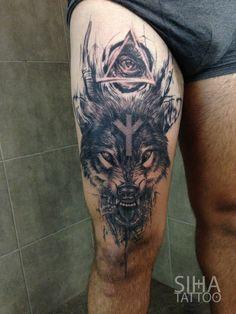 Preciosos Tatuaje De Un Búho En El Muslo Derecho Tatuajes