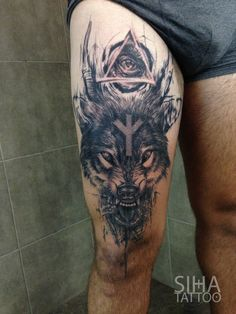 Wolf by Mocho at Siha Tattoo Barcelona Más