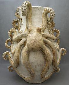 Octopus Vase (Giant Double) Ceramic Sculpture