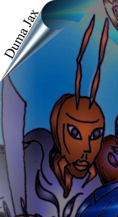 Lumanite X Novel - Duma Jax; an ally of Lumanite X in the Novel...