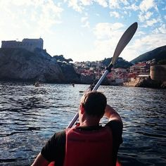 One legged man kayaking on the Dalmatian Coast.  #Dyslexic #Backpacking #Disabled #Lukedeards #lukesworldhop #Croatia  #Amputee #Europe  #Travel #Dubrovnik #Kayaking #Kayak #Gofundme #yooocandoanything
