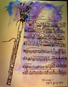 "upperstory: "" Rite of Spring, Igor Stravinsky Bassoon Excerpt "" Piano Music, Sheet Music, Basson, The Rite Of Spring, Drum Corps International, Music Crafts, Little Corner, Types Of Music, Music Stuff"