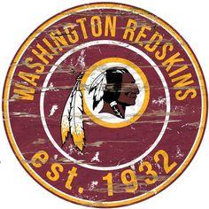 Kohl's Washington Redskins Distressed 24  x 24  Round Wall Art