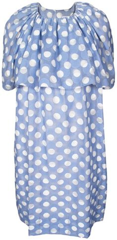 $526, Light Blue Polka Dot Casual Dress: Astonished Dress by Karen Walker. Sold by Les Nouvelles. Click for more info: http://lookastic.com/women/shop_items/33623/redirect
