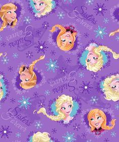 Frozen Sisters Ice Skating Heart - 1 Yard - Frozen Fabric - Purple Fabric - Disney Fabric - Disney Frozen Collection - Frozen - Elsa Ana by Owlanddrum on Etsy