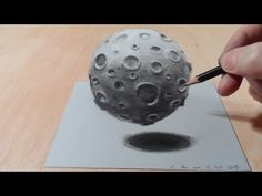 ▶ How I Draw a 3D Moon, Magic Realism - YouTube