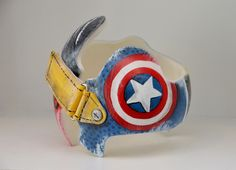 Super hero distressed band DOC Band/cranial band/helmet  https://www.facebook.com/Cranial-BandsMurals-by-Leigh-Gibson-153150921414230/