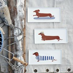 Hot dog! These fun Claudia Pearson Dog Plates are perfect for summer backyard parties. $16