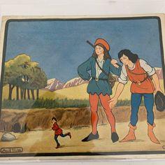 Excited to share this item from my shop: Tom Thumb, Little Tots Nursery Tunes, Signed by the artist, Maude Trube. Dated Vintage Ephemera,