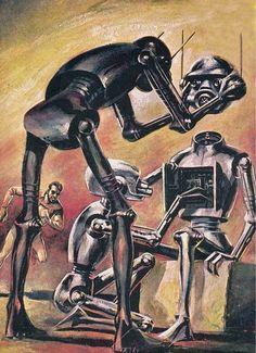 Retro future robots | Magictransistor:  Wally Wood, Galaxy Magazine, 1960.