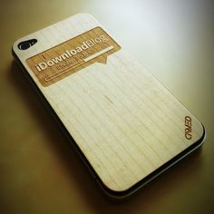 Custom iPhone Wood Skin Made For iDownloadBlog - Click on the image for their review!
