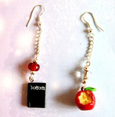 Death Note handmade polymer clay earrings by Akindoonline on Etsy