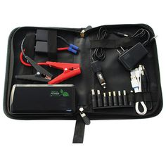 NATURE POWER Compact Lithium Jumpstarter Massive power on a compact package!  This jumpstarter will start your car or boat in a jiffy, yet fits in the glove box when not in use! It also doubles as a 12V power source and can recharge all most personal electronics. Comes with engine starting cables, adapters for popular mobile electronics, and a carry case for easy storage when not in use. Also includes built-in LED light with strobe and SOS functions. A MUST for car and boat!