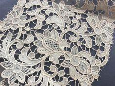 Needle Lace, Lace Patterns, Lace Collar, Le Point, Lace Fabric, Antiques, Art, Venice, Lace Up